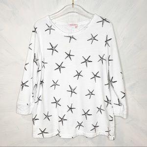 Fresh Produce Star Fish Scoop Neck Sweatshirt